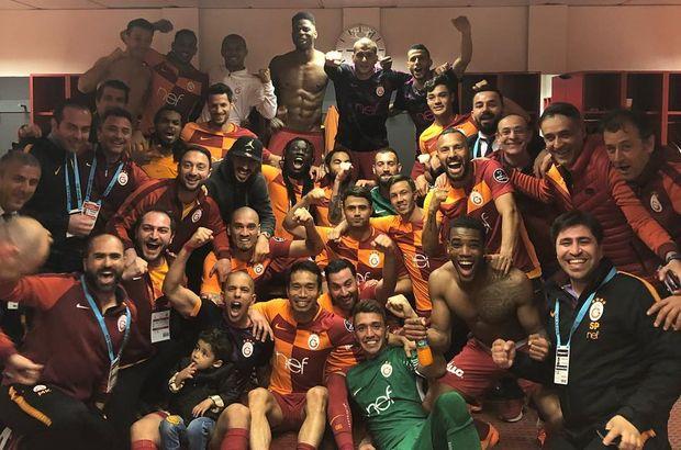 Galatasaray soyunma odasında bayram