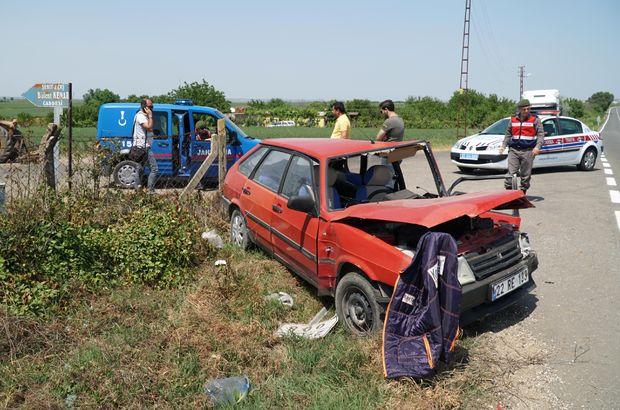 Edirne'de meydana gelen kaza yaralanan sürücü, sonrasında gittiği evinden hastaneye götürüldü