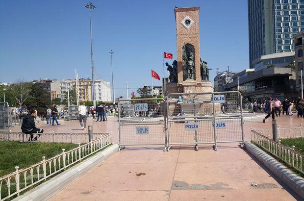 Taksim ve İstiklal Caddesi'nin girişleri bariyerlerle kapatılmaya başlandı