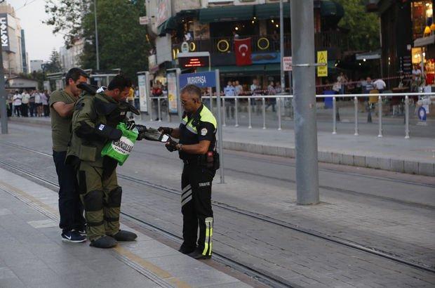 Boş ayakkabı kutusu tramvay seferlerini durdurdu