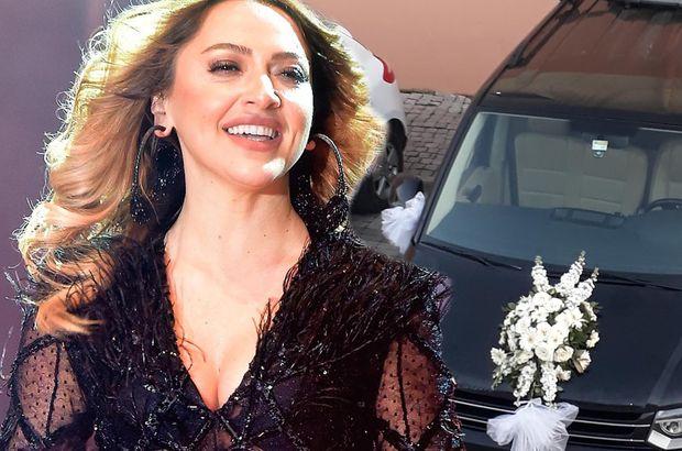 Hadise'nin lüks aracı gelin arabası oldu - Magazin haberleri