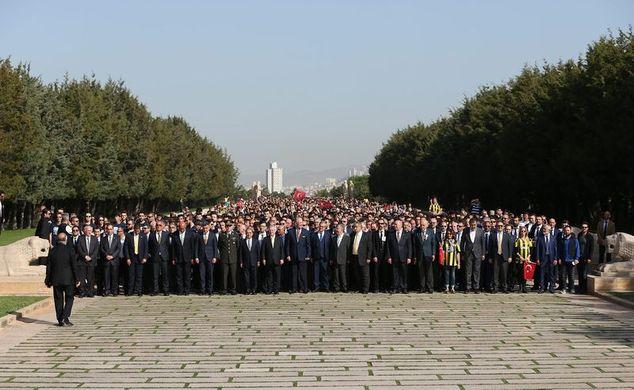 Fenerbahçe'den Anıtkabir'e ziyaret