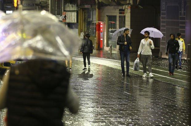 İstanbul yağış yağmur