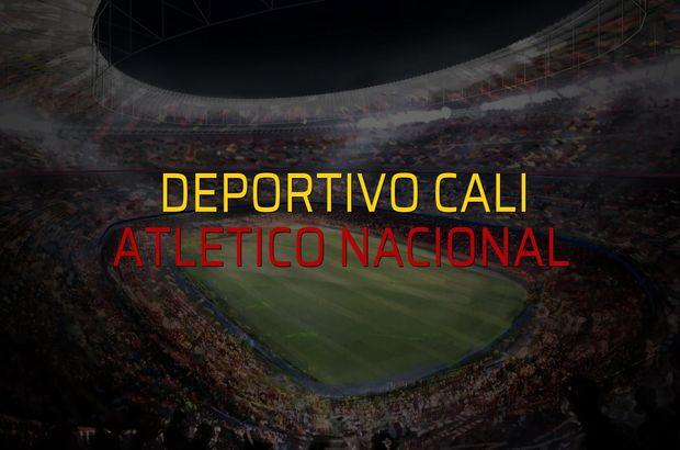 Deportivo Cali - Atletico Nacional maçı rakamları