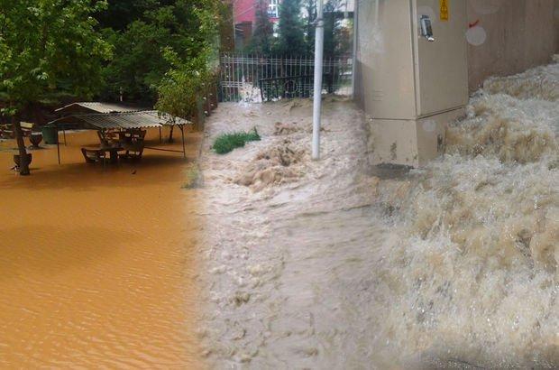 Dereler taştı, caddeler göle döndü!