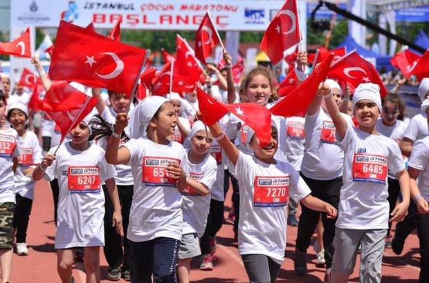 4'üncü Çocuk Maratonu Maltepe'de yapıldı