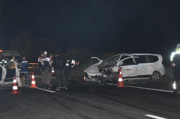 Tekirdağ'da feci kaza! Kafa kafaya çarpıştılar! 2 kişi öldü, 1 kişi yaralandı