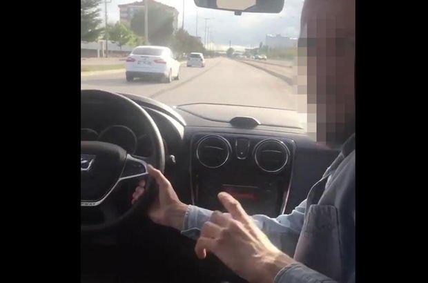Otomobili yan koltuktan kullanan sürücüye gözaltı