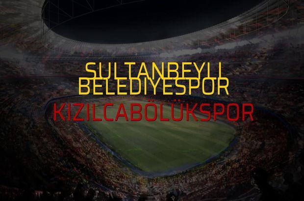 Sultanbeyli Belediyespor - Kızılcabölükspor maçı istatistikleri