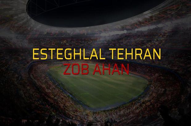 Esteghlal Tehran - Zob Ahan maçı istatistikleri