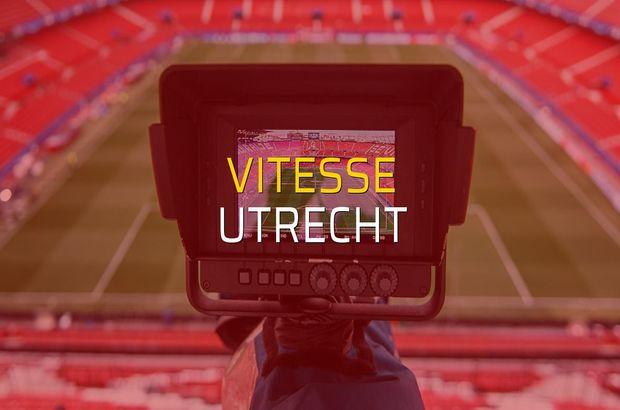 Vitesse - Utrecht karşılaşma önü