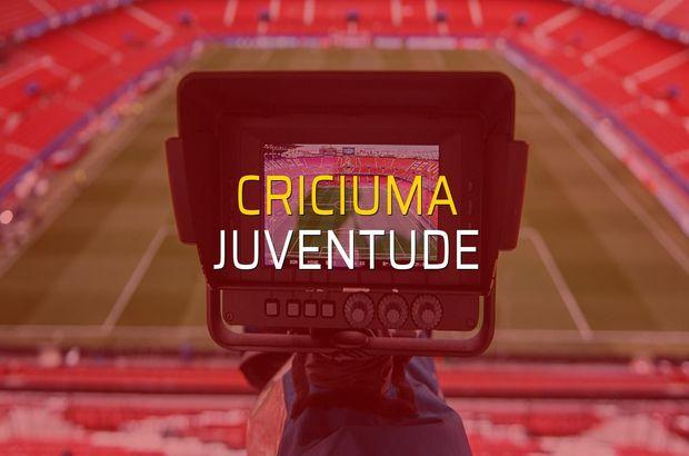 Criciuma - Juventude maç önü