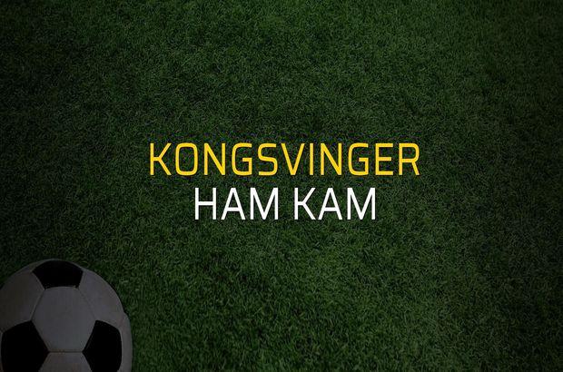 Kongsvinger - Ham Kam maçı rakamları