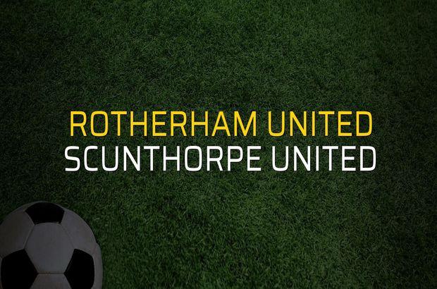 Rotherham United - Scunthorpe United rakamlar