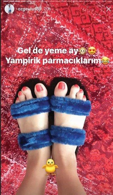 Özge Ulusoy: Ayak parmaklarımı çok seviyorum - Magazin haberleri