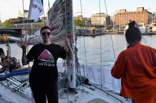 İsveçli ve Norveçli aktivistler tekneleriyle Gazze için yola çıktı