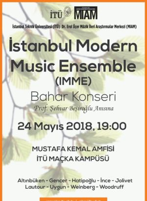 İstanbul Modern Music Ensemble'dan konser
