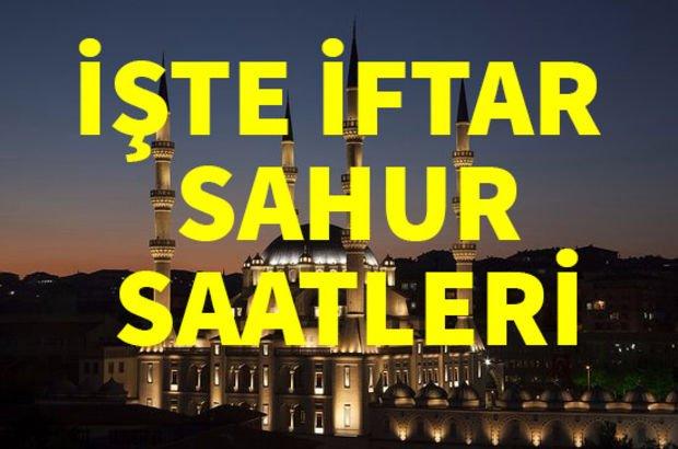 Adıyaman, Afyonkarahisar ve Ağrı iftar saati!