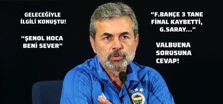 Son dakika haberi! Fenerbahçe Teknik Direktörü Aykut Kocaman'dan olay açıklamalar