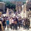 Efes Antik Kenti'nin  ziyaretçi sayısı 412 bini aştı