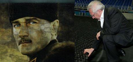 Fenerbahçe'den 60.000 renkli bardakla dev Atatürk portresi!
