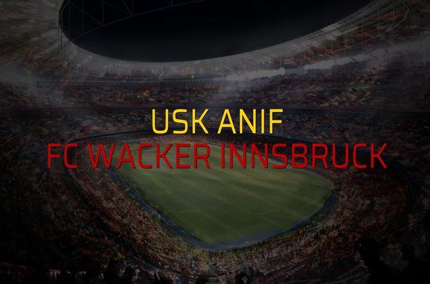 USK Anif - FC Wacker Innsbruck maçı heyecanı