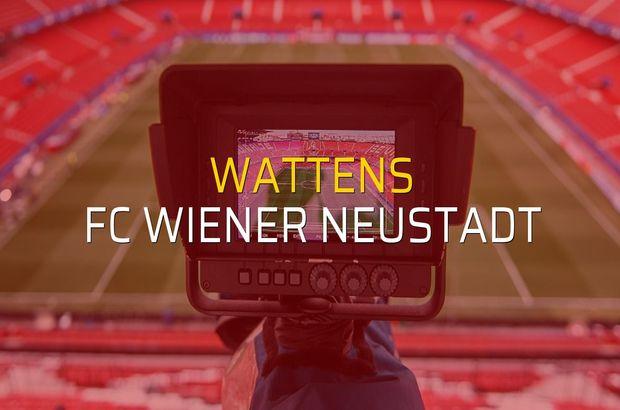 Wattens - FC Wiener Neustadt maçı heyecanı