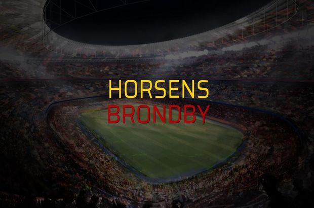 Horsens - Brondby maçı öncesi rakamlar