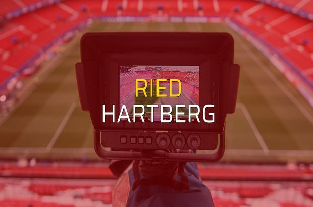 Ried - Hartberg maçı öncesi rakamlar