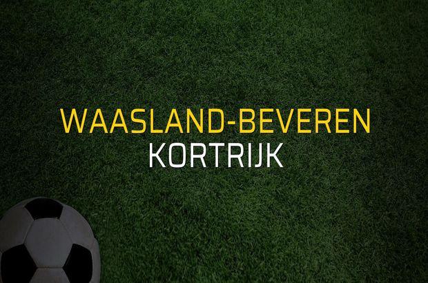 Waasland-Beveren - Kortrijk maçı heyecanı