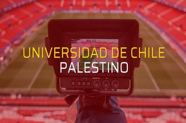 Universidad de Chile - Palestino sahaya çıkıyor