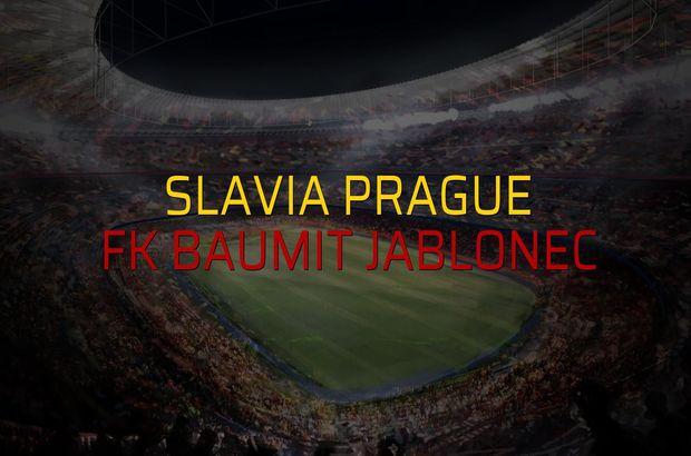 Slavia Prague - FK Baumit Jablonec maçı istatistikleri