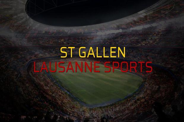 St Gallen - Lausanne Sports maçı istatistikleri