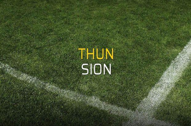 Thun - Sion karşılaşma önü