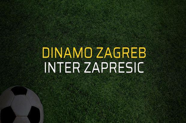 Dinamo Zagreb - Inter Zapresic maçı rakamları