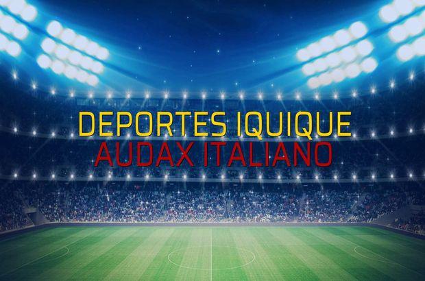 Deportes Iquique - Audax Italiano sahaya çıkıyor