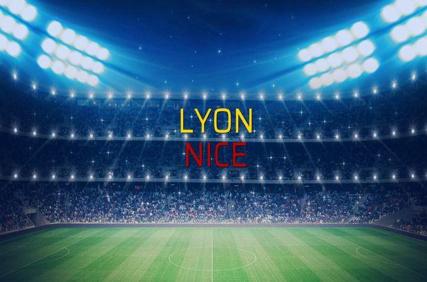 Lyon - Nice maçı heyecanı