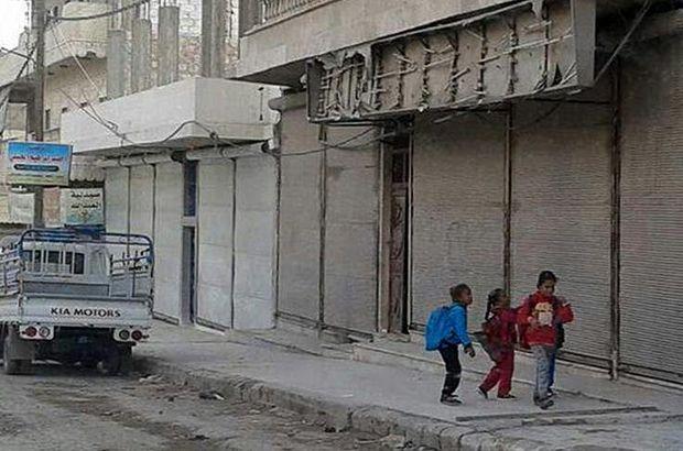 Esnaf terör örgütü YPG/PKK'ya karşı kepenk indirdi