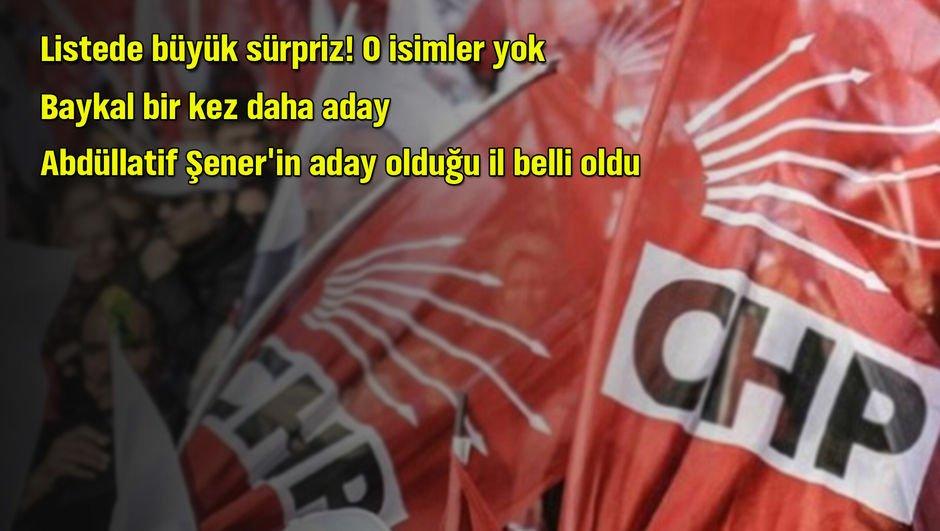 CHPnin adayları belli oldu! O isimler listede yok