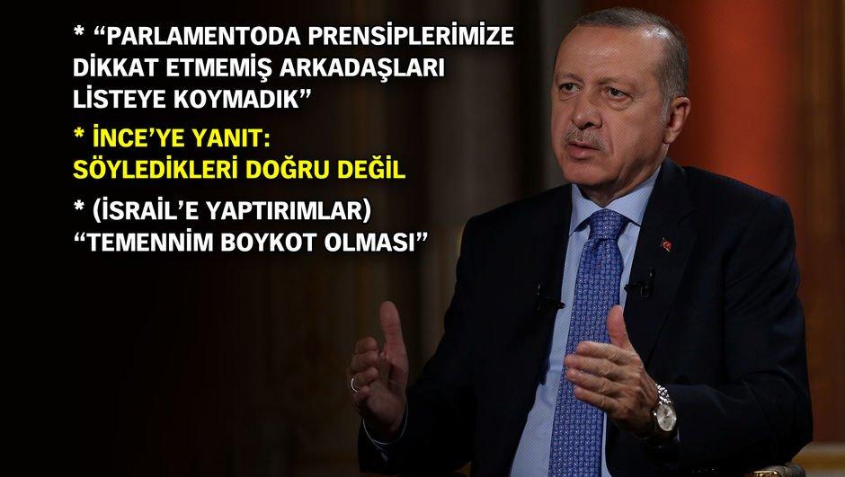 Erdoğan: AK Parti aday listesinde ehliyet ve liyakati gözettik
