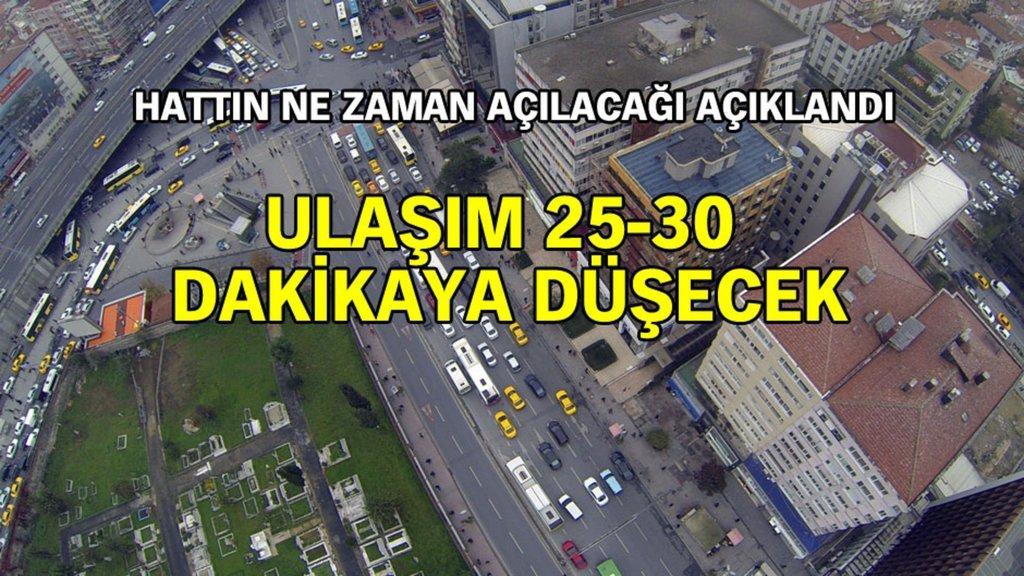 İstanbulluların 4.5 yıldır beklediği hat açılıyor!