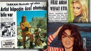 Tarkan'ın köpeği, Filiz Akın'ın ölüm haberi, Türkan Şoray'ın attan düşmesi... İşte Yeşilçam magazin gündemi!