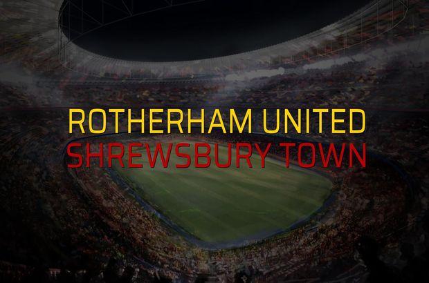 Rotherham United - Shrewsbury Town karşılaşma önü