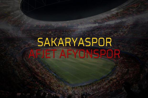 Sakaryaspor - Afjet Afyonspor maçı rakamları