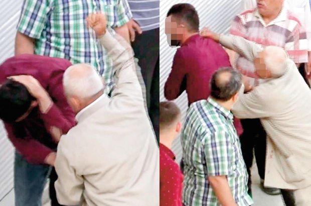 Karşılık veren oğlunu evire çevire dövdü
