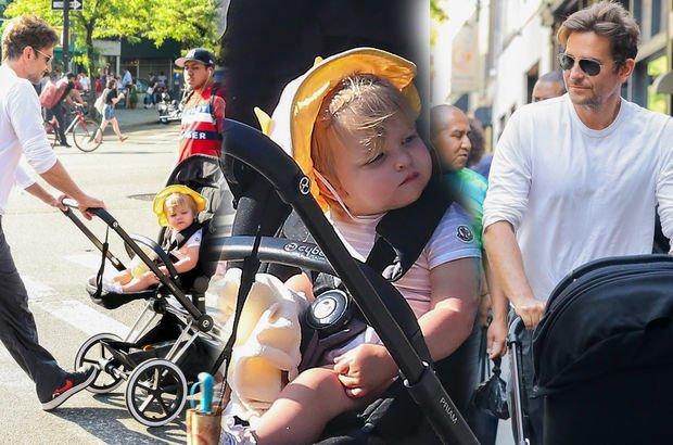 Bradley Cooper 14 aylık kızıyla gezintide