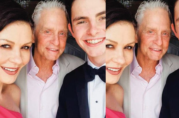 Catherina Zeta-Jones ve Michael Douglas çiftinin oğulları Dylan Douglas'ın mezuniyet sevinci