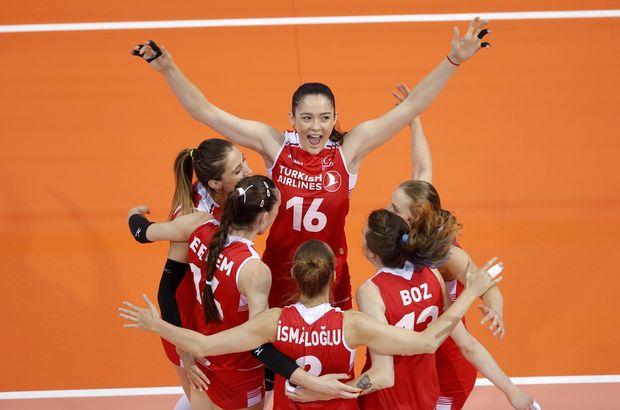 FIVB Kadınlar Uluslar Ligi   Belçika: 0 - Türkiye: 3
