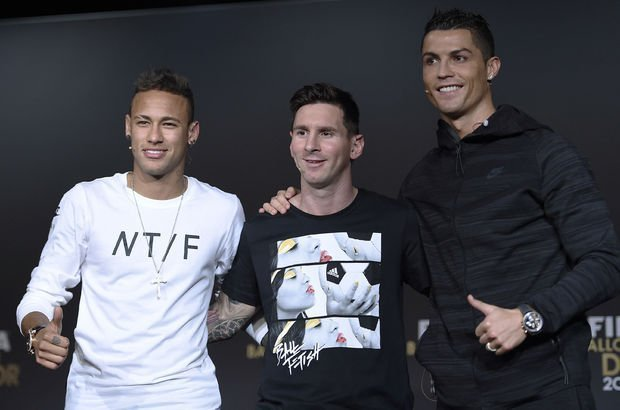 Cristiano Ronaldo Neymar Lionel Messi