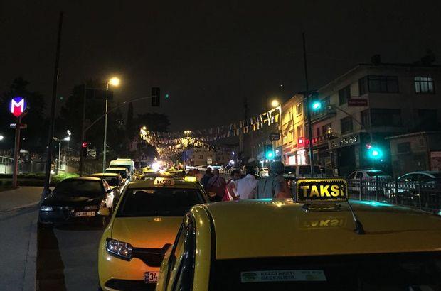 Taksiciler 100 araçlık konvoy oluşturdu
